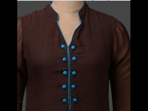 4d6b57c7f ladies suit neck design - YouTube