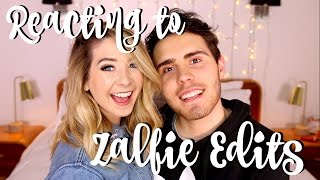 Reacting To Zalfie Edits | Zoella