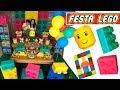 FESTA DE ANIVERSÁRIO LEGO #2: decoração da mesa | Paula Stephânia