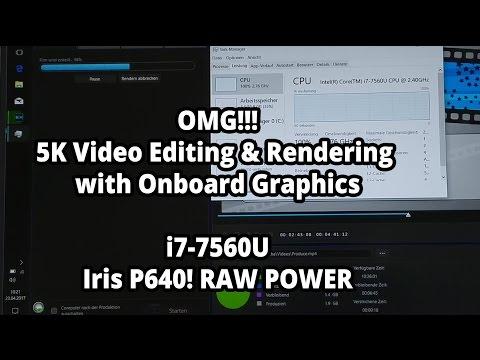 DELL XPS 13 - Editing & Rendering 5K Videos on i7-7560U - Iris P640