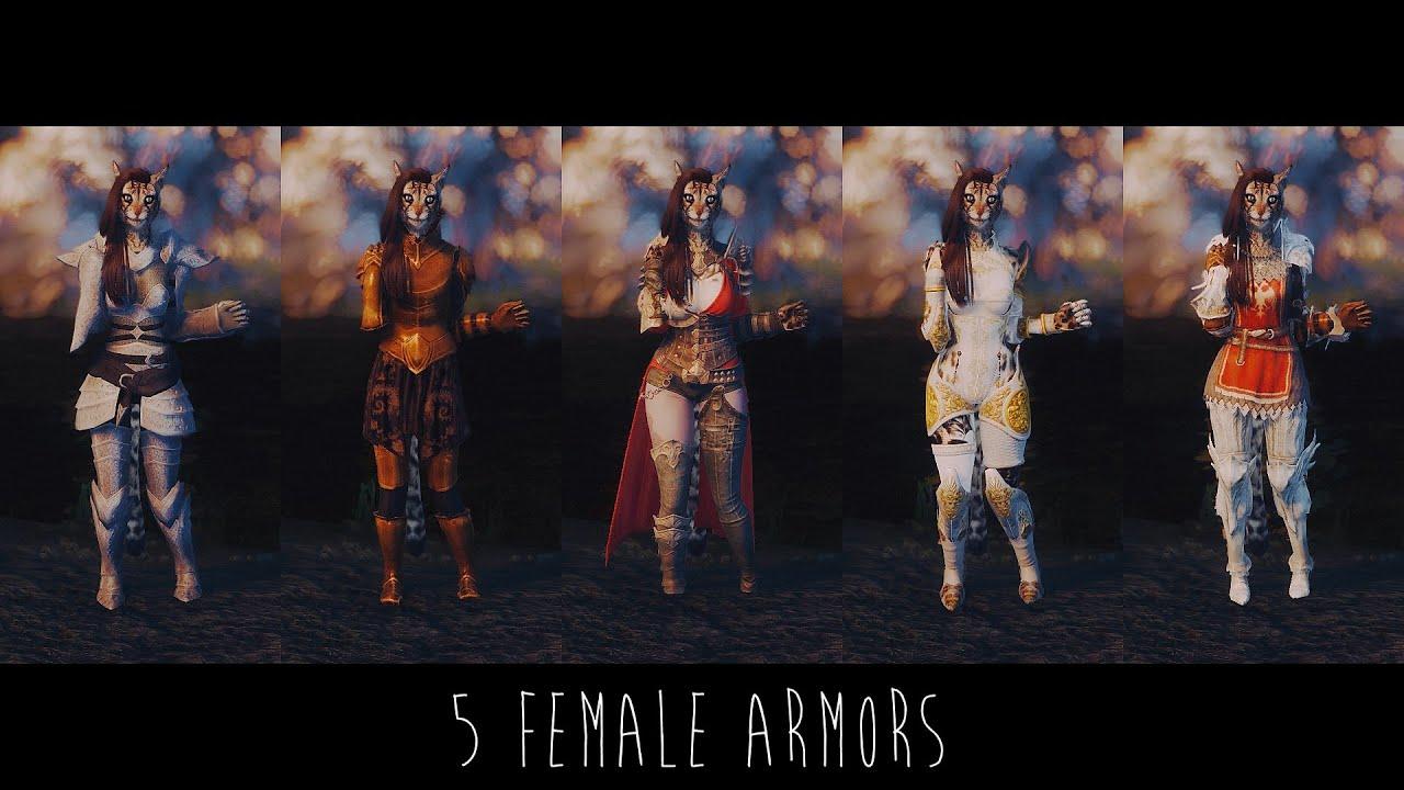 Skyrim Mods   5 Female Armors by Skajrim