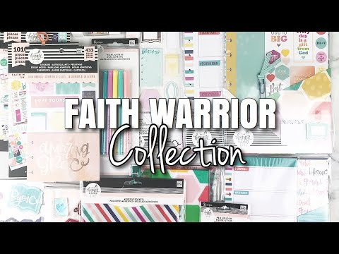 FAITH PLANNER SETUP Preview + FAITH WARRIOR Happy Planner Girl Collection | At Home With Quita