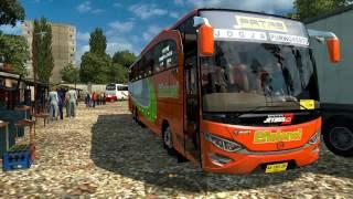 ETS2 Efisiensi Triple Axle - Bus Mod Indonesia