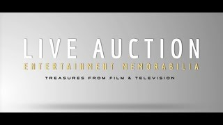 Prop Store Entertainment Memorabilia Live Auction 2017