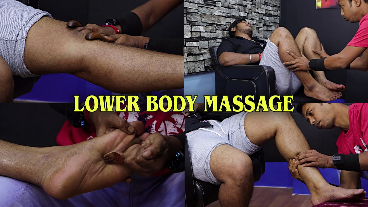 Lower Body Massage | Relaxing Leg Massage & Toe Cracks | ASMR