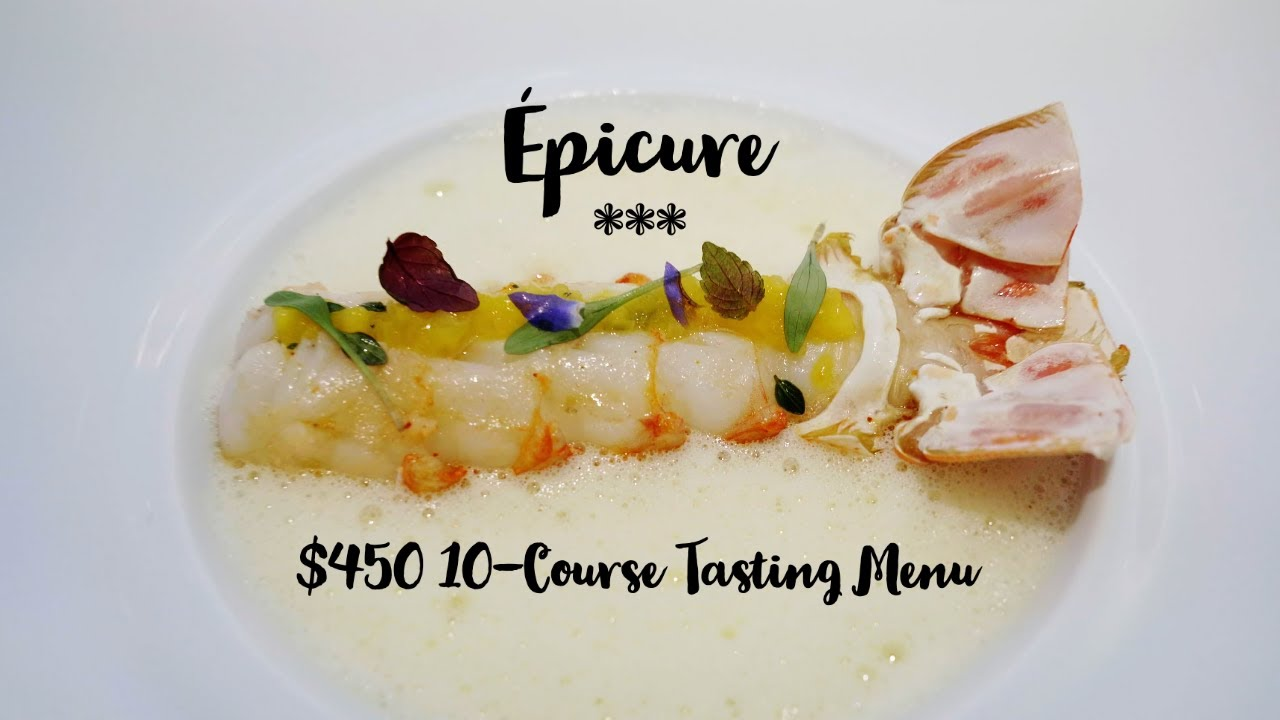 Epicure 450 10 Course Tasting Menu In One Of The Best