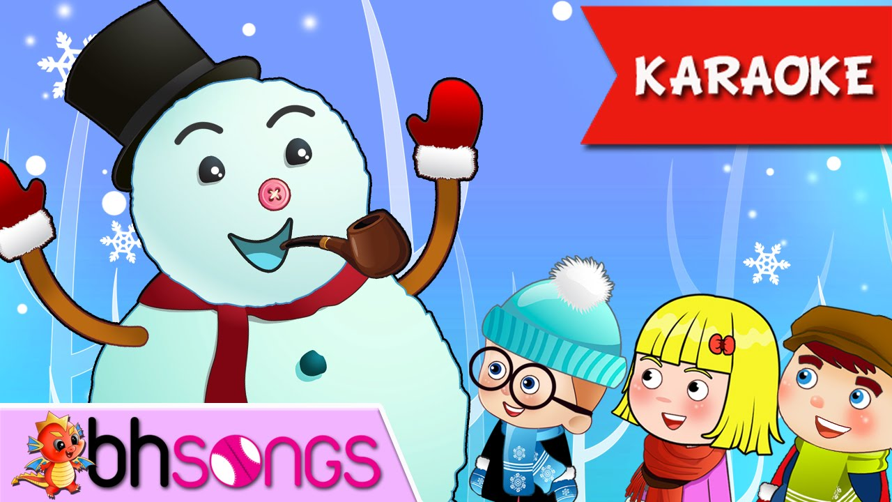 Frosty The Snowman | Merry Christmas [Song Karaoke 4k] - YouTube