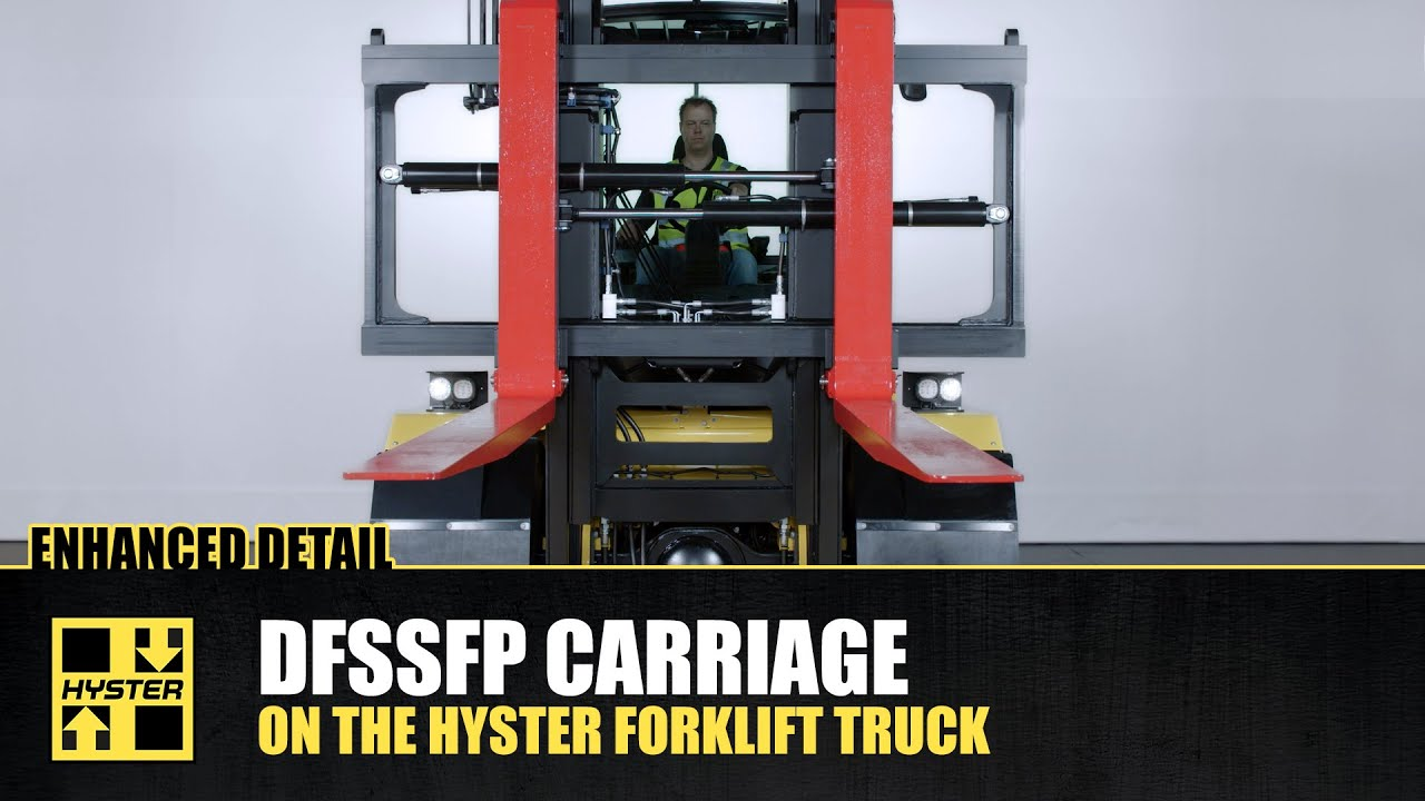 Superb visibility and quick mounting with our DFSSFP carriage - HysterⓇ  Heavy Duty forklift trucks