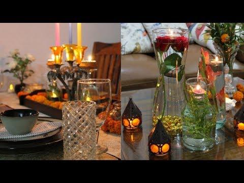SMALL BUDGET HOME DECORATION | TABLE DECOR IDEAS | DIY CANDLE DECORATION | PARTY HOME DECOR IDEAS