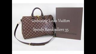 Unboxing Louis Vuitton Bag Speedy Bandouliere 35
