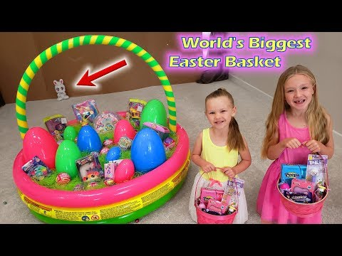 Dad vs Easter Bunny! World's Biggest Easter Basket!!!