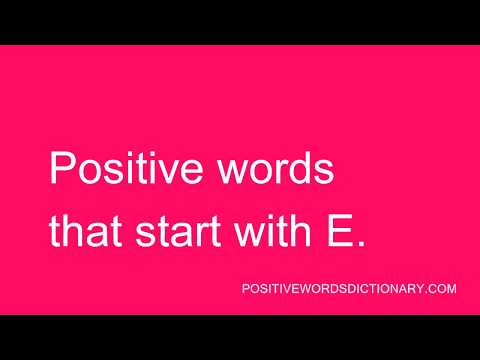 Positive words That Start with E | Positive words starting with E