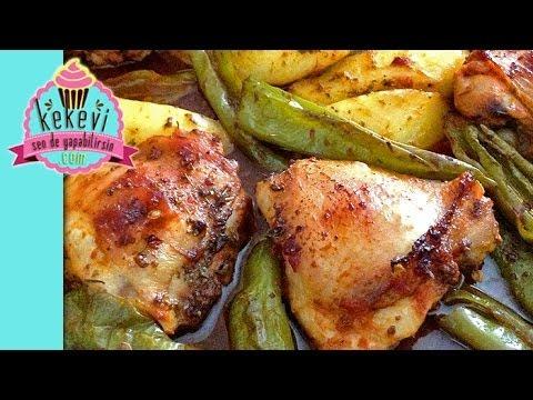 Fırında Tavuk Kalça, Sebzeli