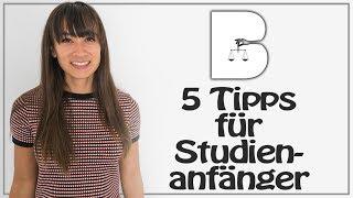 5 Tipps fürs Studium - Mit studieren beginnen - Infos für Erstsemester - So klappt's!