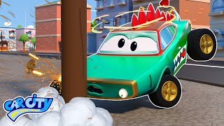 Crocodile Car has an ACCIDENT | Car Repair  | Trucks for Children | Tom the Tow Truck's Garage