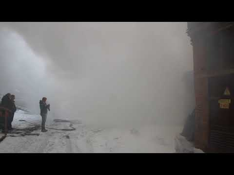 Пожар на складе магазина Посуда-Центр (Тайшет)