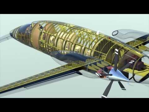 """Piaggio P180 """"Avanti II"""" 3D model in extreme scale"""