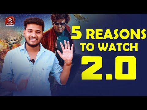 5 Reasons To Watch #2point0 In Theaters  3D  Rajini  Shankar  Akshay