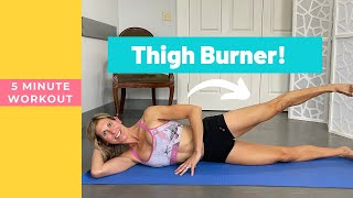 5 Minute Outer Thigh And Side Booty Workout