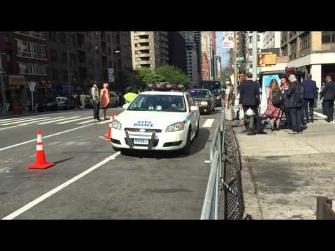 NYPD & UNITED STATES SECRET SERVICE ESCORTING DIPLOMATS ON 2ND AVENUE DURING U.N. GENERAL ASSEMBLY.