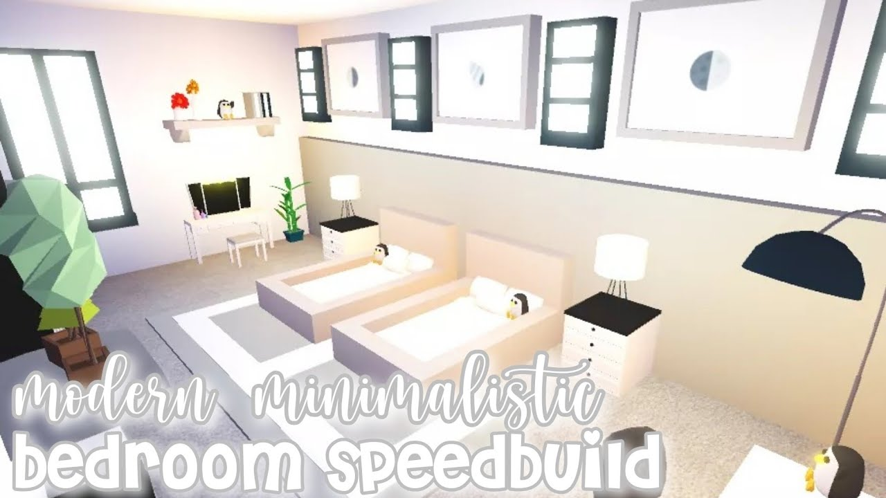 Modern Minimalistic Futuristic House Bedroom Speed Build! | Roblox Adopt Me - YouTube