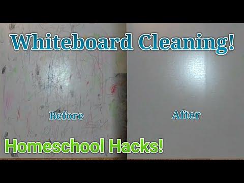 Cleaning Crayon off Whiteboard | Homeschooler Hack