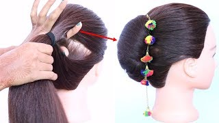 easy & newtrick for french bun || french roll || french twist hairstyle || french hairstyle