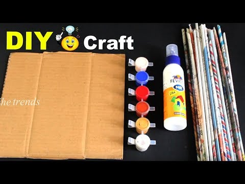 How to make Heart Shaped Wall Hanging at home/Newspaper wall hanging/wall decor with chatboard