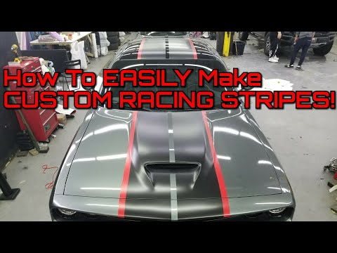 How To Make Custom Racing Stripes Using Vinyl Wrap