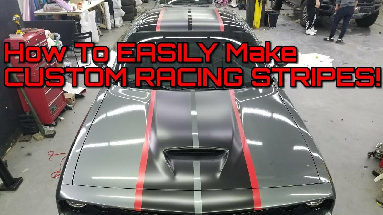 Custom Racing Stripes How To Make Custom Racing Stripes Using Vinyl