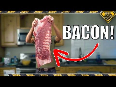 Worlds Largest Bacon (2 FEET Long)!