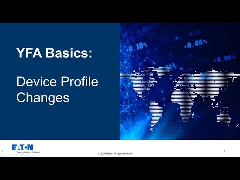YFA Basics: Device Profile Changes