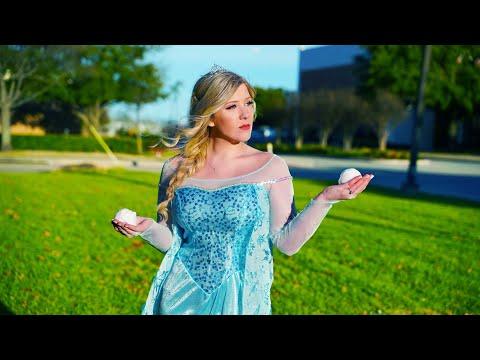 I Spent 24 Hours As Elsa in Public Challenge