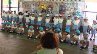 園田幼稚園園児による さんさんタウンスカイコムで行われてた交通安全イ...