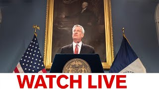 NYC Mayor Bill de Blasio daily briefing