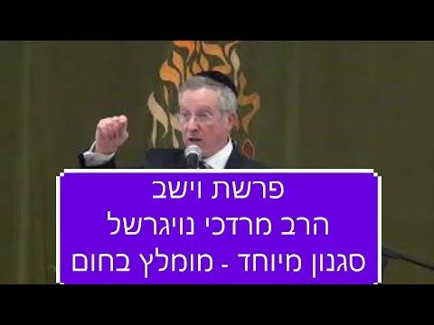 חדש! שיעור ברמה גבוהה על פרשת וישב של הרב מרדכי נויגרשל חובה לצפות!