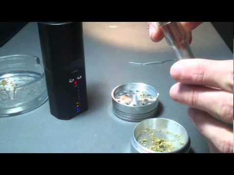 Vaporizador Arizer Solo ejemplo de uso