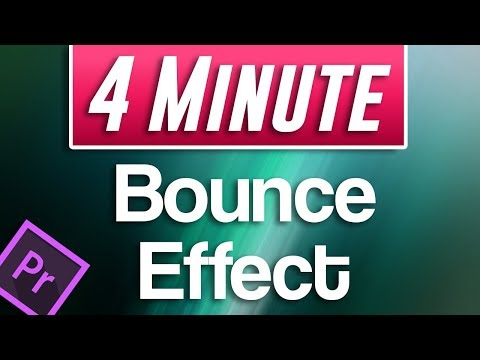 Premiere Pro CC : How to Make an Animated BOUNCING Effect for Images and Text