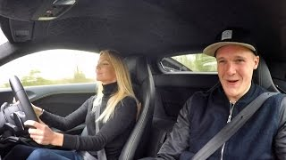 Girl Learns To Drive New Audi R8