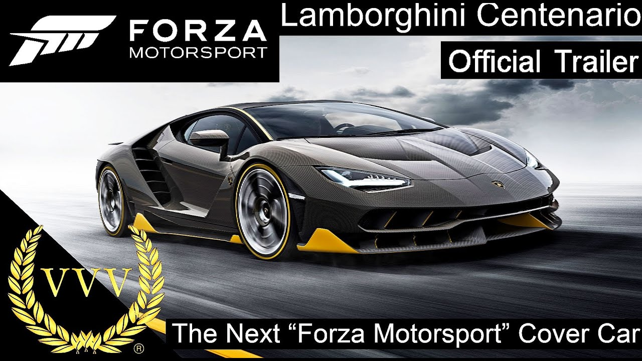 Lamborghini Centenario Revealed As The Next Forza Motorsport Cover Car