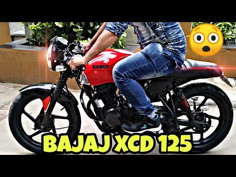 India's First Fully Modified Bajaj XCD 125 Into Custom CafeRacer By McM Custom