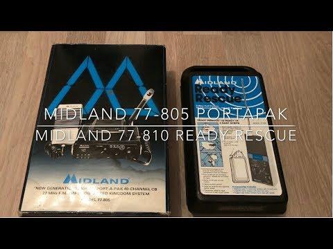 CB Radio - Midland 77-805 Portapak & Midland 77-810 Ready Rescue