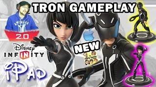 Duddy plays TRON! Sam Flynn & Quorra Disney Infinity 2.0 Gameplay on iPad! (Toy Box Version)