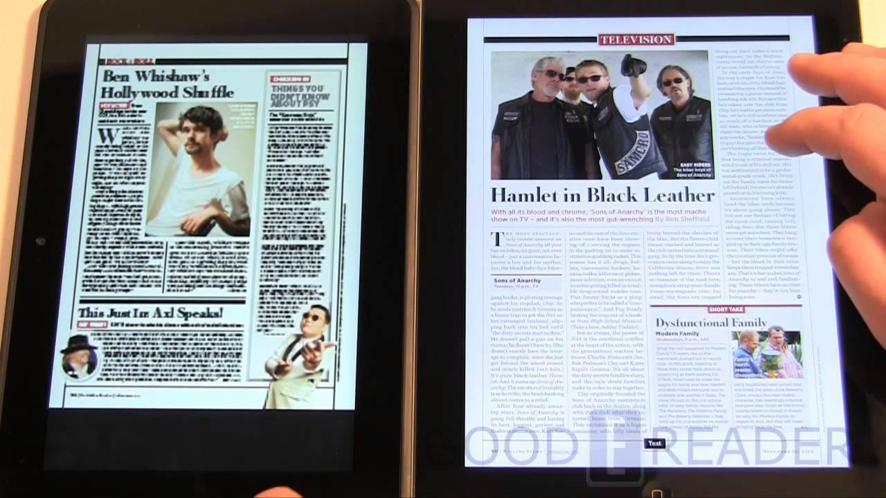 iPad 3 vs Amazon Kindle HD 8 9