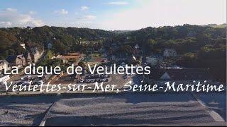 La digue de Veulettes vue du ciel  Veulettes sur Mer, Seine-Maritime