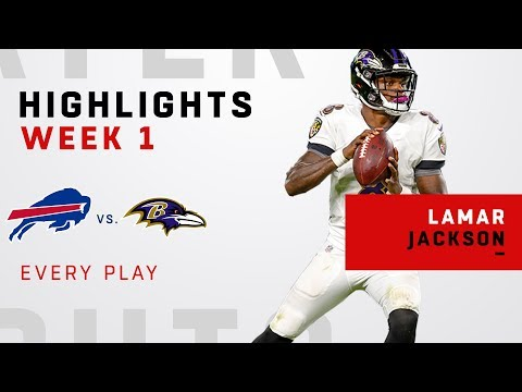 Every Lamar Jackson Play from NFL Debut!