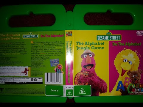 123 Sesame Street Home Video The Alphabet Jungle Game And Do The Alphabet DVD Australian 2006
