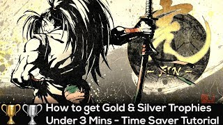 [PS4] Samurai Showdown 2019 - How to get Gold & Silver Trophies Under 3 Mins - Time Saver Tutorial