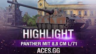 Когда легко.Panther mit 8,8 cm L/71 в World of Tanks!