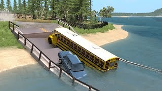 Collapsing Bridge Pileup Crashes 17 | BeamNG.drive